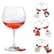 Wijnglas Sieraden 6 stuks Kerst