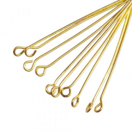 Kettelstiften 2.5cm 50x goud