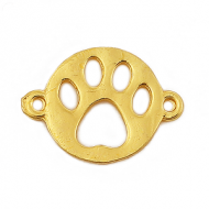 Tussenstuk Hond Pootje goud