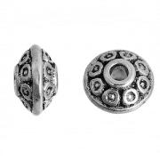 Kraal Metaal 6x4.2mm Zilver