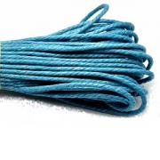 Waxkoord katoen 2mm Blauw