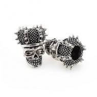 Kraal Skull Kroon Zilver