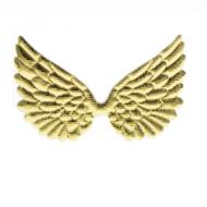 Goud Vleugels Patches 74x43mm
