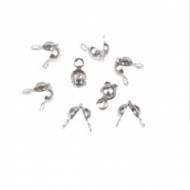 Kalotjes 4x7mm Nickel 50x