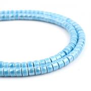 Kralen Ceramic 6x4mm Blauw