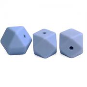 Kraal Hexagon 14mm Blauw