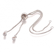 Armband voor Tussenstuk zilver