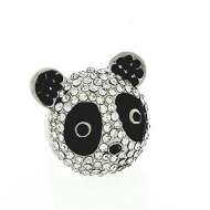 Ring Pandabeer Strass