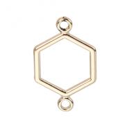 Tussenstuk Hexagon 19x12mm