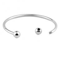 Armband Rvs 3mm Zilver