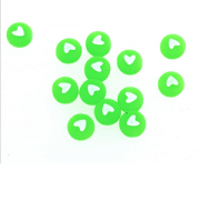 Letterkraal Acryl hart Groen