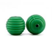 Kraal Silicone Spiraal Groen 15mm