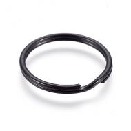 Sleutelhanger ring 25mm Zwart