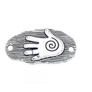 Tussenstuk Hand Spiraal 32x21mm