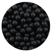 Siliconen Kraal Zwart 15mm