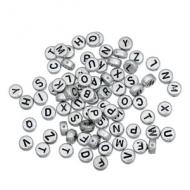 Acryl Letterkralen Zilver 100x