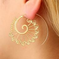 Oorbellen-Spiraal-goud/zilver-4