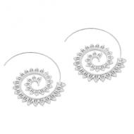 Oorbellen-Spiraal-goud/zilver-6