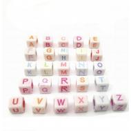 Letter Kralen 6x6mm 100x