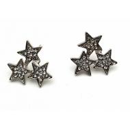 Oorbellen-3-ster-Zilver