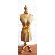 Display - Paspop - Goud met glitter 65cm hoog