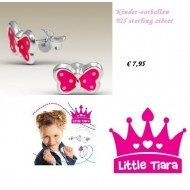 Little Tiara - Vlinder Oorbellen - Kind
