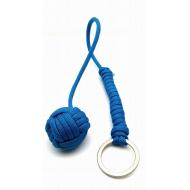 Apenvuist- sleutelhanger paracord - kobalt blauw