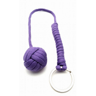 Apenvuist- sleutelhanger paracord - paars