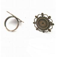 Bronzen ring met Setting/Kastje
