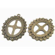 Bronzen Setting/Kastje Medaillon  #4