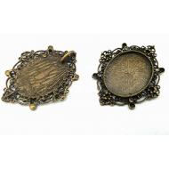Bronzen Medaillon  Setting/kastje  #3