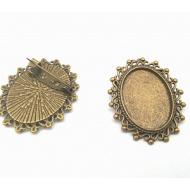 Bronzen Broche Setting/kastje