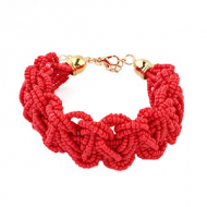Armband-Rocailles-Rood