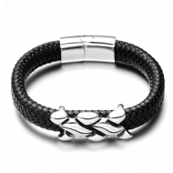 Armband-Leder-Tribal-Knoop