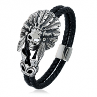 Lederen-Armband-Indianen-Chief