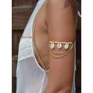Bovenarm Armband met schelpen - Ibiza style