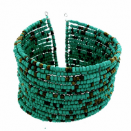 Armband-Wire-Rocailles-groen