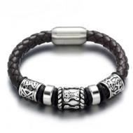 Lederen Armband Viking Steel
