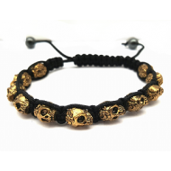 Heren armband - Doodshoofd - Skull goudkleur