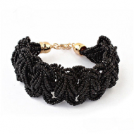 Armband Rocailles Zwart