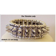 Armband-Metaal-Spikes-stretch