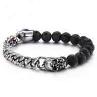 Armband-Stainless-Skull-Lava