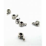 Metalen Bedel hanger met oog - ster