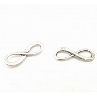 Infinity zilverkleurig - connector