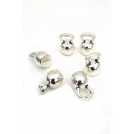 Bedel metaal zilver massief Kettle -Bell / sport / gewicht