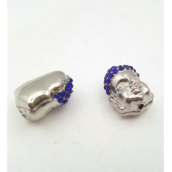 Kraal Boeddha zilver strass