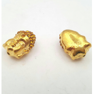 Kraal Boeddha Strass goud