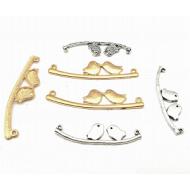 Connector - Vogeltjes goud/zilver