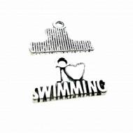 Bedel I love Swimming 22x15mm