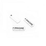 Bedel Tekst Imagine 21x8mm